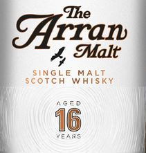 Arran 16 Years Old Label