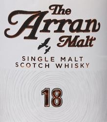 Arran 18 Years Old Label
