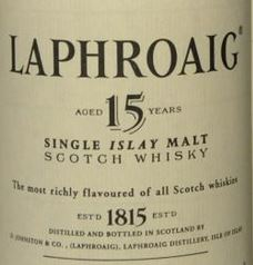 Laphroaig 15 Year Old 2009 Label