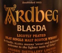 Ardbeg Blasda Label