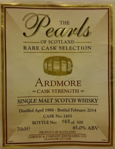 Ardmore 1988 (Gordon & Company 'The Pearls of Scotland') Label 3