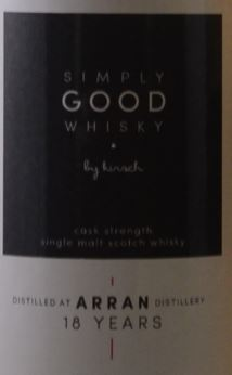 Arran 1996 Simply Good Whisky Label