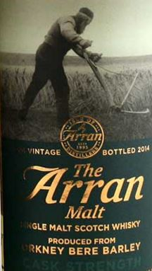 Arran Orkney Bere Barley 2014 Label NEW