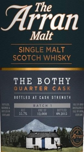 Arran The Bothy - Quarter Cask (Batch 1) Label 2