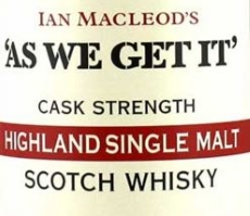 'As We Get It' Highland Single Malt (67.9) Label NEW