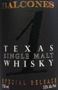 Balcones 1 Texas Single Malt Whisky Special Release Label (2016-01-05)