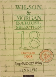 Ben Nevis 1995 (Wilson & Morgan 'Barrel Selection') Label 2