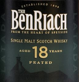 BenRiach 18 Years Old Latada Label
