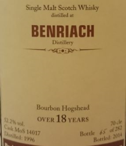 BenRiach 1996 (MoS) Label 3
