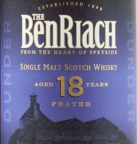 Benriach 18 Years Old Dunder Label