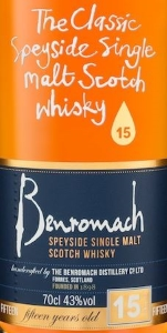 Benromach 15 Years Old Label 2