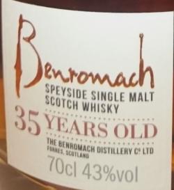 Benromach 35yo Label 6