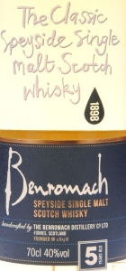 Benromach 5 Years Label 2
