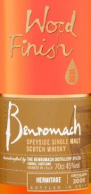 Benromach Hermitage 2005 Label 2