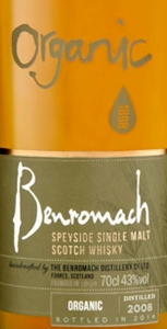 Benromach Organic 2008 Label 2