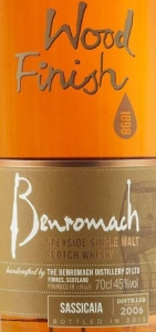 Benromach Sassicaia 2006 Label 2