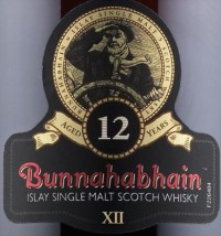 Bunnahabhain 12 Years Old Label