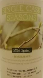 Bunnahabhain 2004 Spring 2016 Label 2