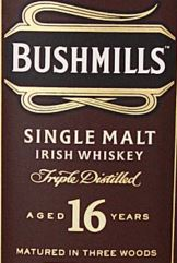 Bushmills 16YO Label NEW