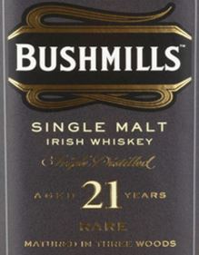 Bushmills 21YO Label NEW