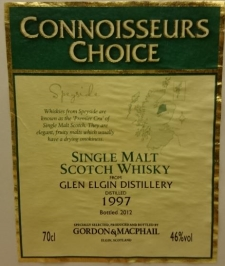 Glen Elgin 1997 (Gordon & MacPhail 'Connoisseurs Choice') Label 3
