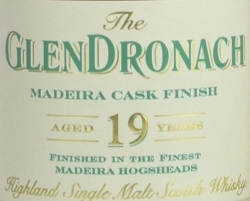 GlenDronach 19 Years Old Madeira Finish Label 2