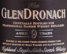 GlenDronach 9 Years Old (for Denmark) Label