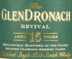 GlenDronach Revival 15 Years Old Label 2