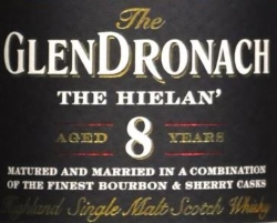 GlenDronach The Hielan' 8 Years Old Label 2