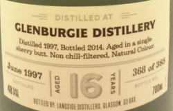 Glenburgie 1997 (Langside Distillers 'Distiller's Art') Label 4