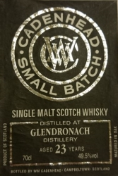 Glendronach 1990 (Cadenhead Small Batch) Label 3