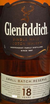 Glenfiddich 18 Years Old Small Batch Reserve Label NEW