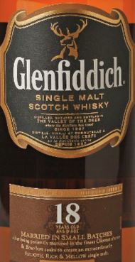 Glenfiddich 18YO Label NEW