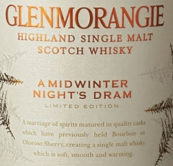 Glenmorangie A Midwinter Night's Dram Label 2