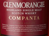 Glenmorangie Companta Label NEW