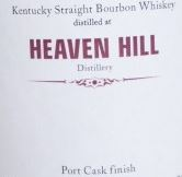 Heaven Hill 2001 Port Cask Finish Label