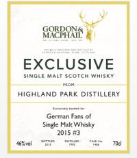 Highland Park 1995-2015 GM Label