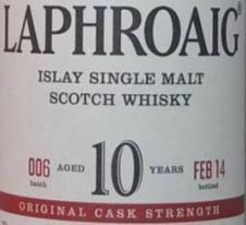 Laphroaig 10YO OCS 6 Label