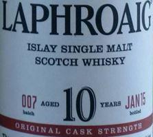 Laphroaig 10YO OSC 7 Label