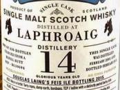Laphroaig 2001 Old Particular Feis Ile Bottling 2015 (Douglas Laing) Label