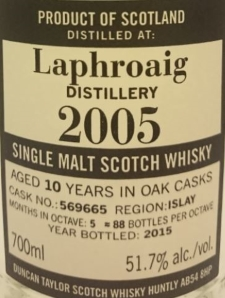 Laphroaig 2005 (Duncan Taylor 'The Octave') Label 3