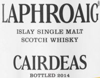 Laphroaig Cairdeas 2014 Label
