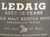 Ledaig 10 Years Old Label