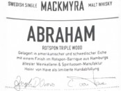 Mackmyra Abraham Rotspon Triple Wood Label 2