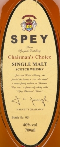 SPEY Chairman's Choice Label 2