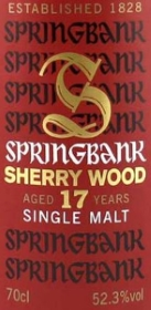 Springbank 17 Years Old Sherry Wood Label NEW