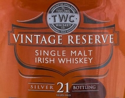 Teeling 21 Years Old Silver Bottling Label NEW