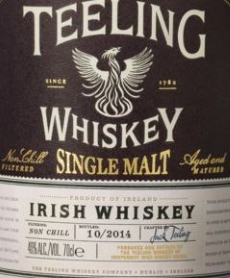 Teeling Single Malt 2014 Label NEW