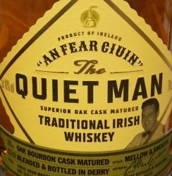 The Quiet Man Traditional Irish Whiskey Label 2
