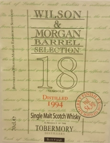 Tobermory 1994 (Wilson & Morgan 'Barrel Selection') Label 3